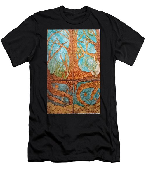 Underwater Trees Men's T-Shirt (Athletic Fit)
