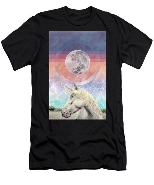 Unicorn Full Moon Vision Men's T-Shirt (Athletic Fit)