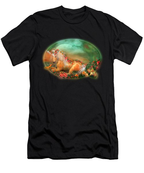Unicorn Of The Roses Men's T-Shirt (Athletic Fit)