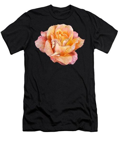 Unicorn Rose Men's T-Shirt (Athletic Fit)