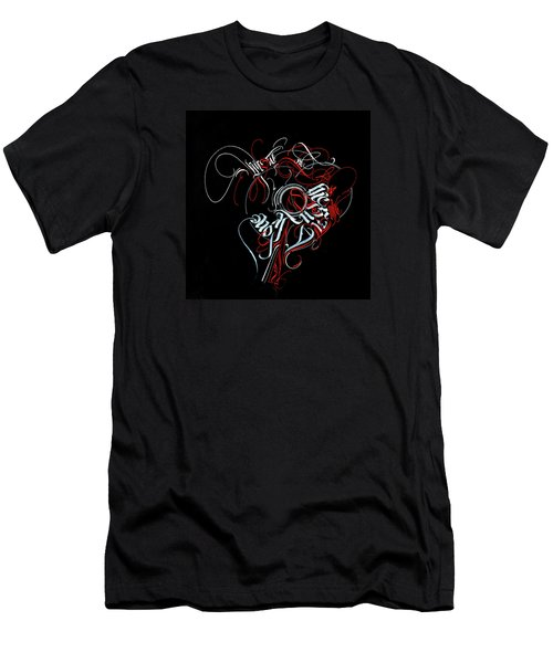 Union. Calligraphic Abstract Men's T-Shirt (Athletic Fit)