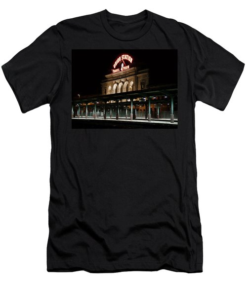 Union Station Denver Colorado Men's T-Shirt (Slim Fit) by Ken Smith
