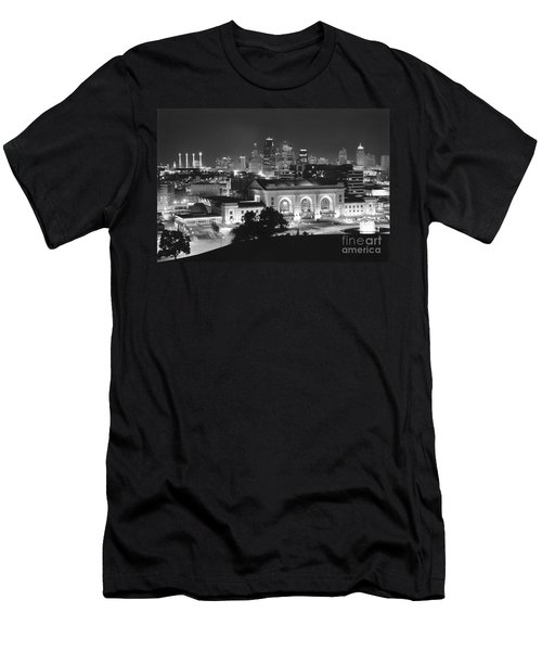Union Station In Black And White Men's T-Shirt (Athletic Fit)