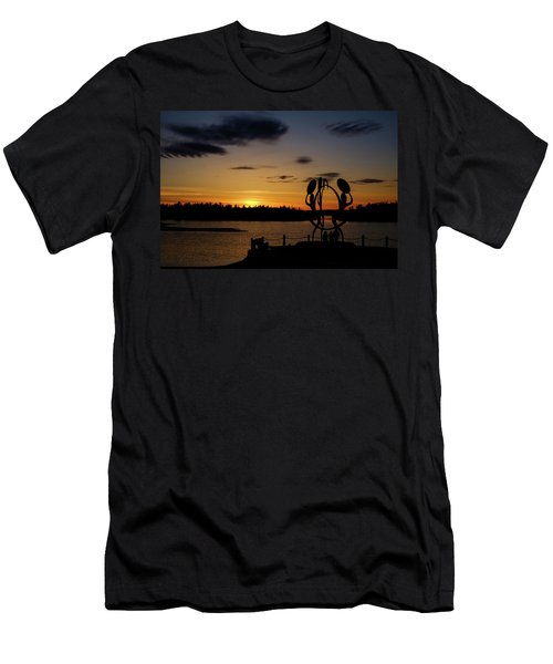 United In Celebration Sculpture At Sunset 6 Men's T-Shirt (Athletic Fit)
