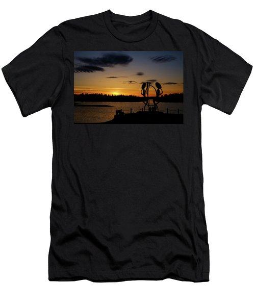 United In Celebration Sculpture At Sunset 6 Men's T-Shirt (Athletic Fit)