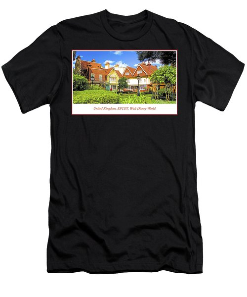 United Kingdom Buildings, Epcot, Walt Disney World Men's T-Shirt (Athletic Fit)