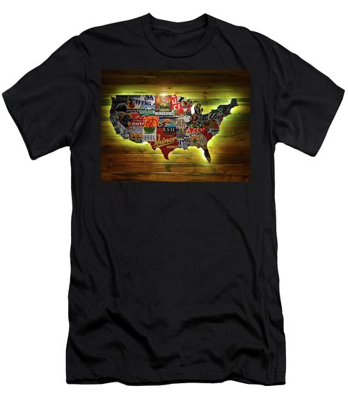 United States Wall Art Men's T-Shirt (Athletic Fit)