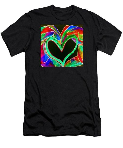 Universal Sign For Love Men's T-Shirt (Slim Fit) by Eloise Schneider