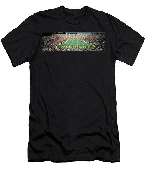 University Of Michigan Stadium, Ann Men's T-Shirt (Slim Fit) by Panoramic Images