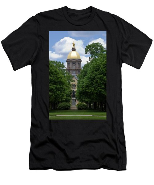 University Of Notre Dame Golden Dome Men's T-Shirt (Athletic Fit)