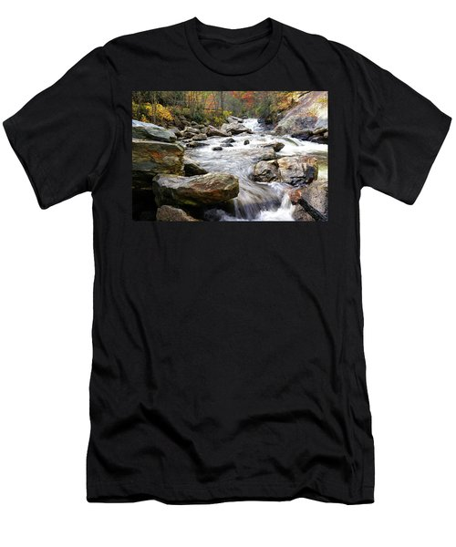 Unnamed Waterfall Men's T-Shirt (Athletic Fit)