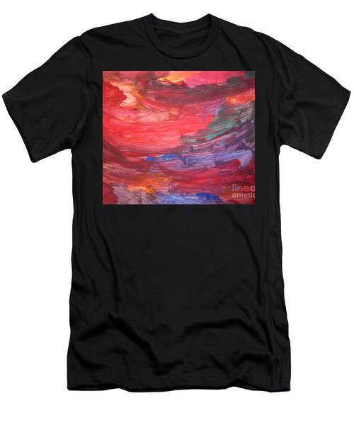 untitled 110 Original Painting Men's T-Shirt (Athletic Fit)