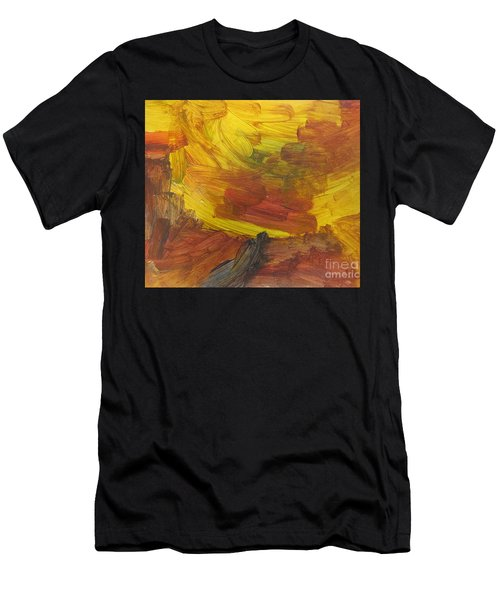 Untitled 117 Original Painting Men's T-Shirt (Athletic Fit)
