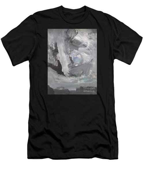Untitled 124 Original Painting Men's T-Shirt (Athletic Fit)