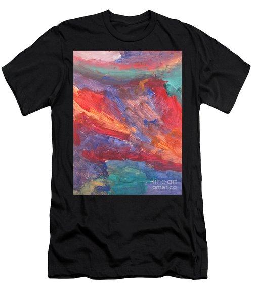 Untitled 95 Original Painting Men's T-Shirt (Athletic Fit)