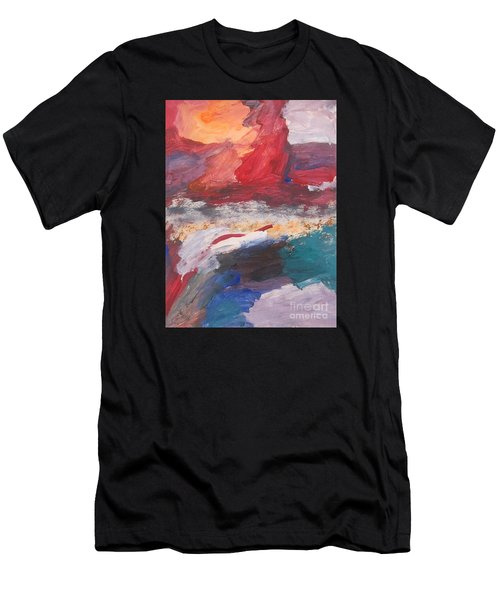 Untitled 98 Original Painting Men's T-Shirt (Athletic Fit)
