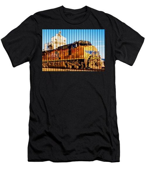Up 5915 At Track Speed Men's T-Shirt (Slim Fit) by Bill Kesler