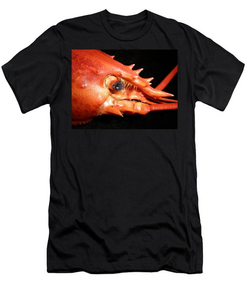 Men's T-Shirt (Slim Fit) featuring the photograph Up Close Lobster by Patricia Piffath