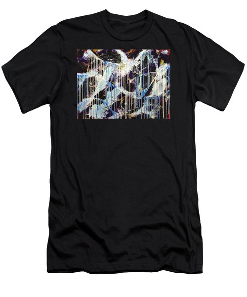 Men's T-Shirt (Slim Fit) featuring the painting Up In The Air by Sheila Mcdonald