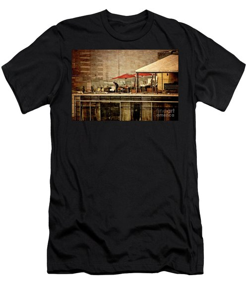 Men's T-Shirt (Slim Fit) featuring the photograph Up On The Roof - Miraflores Peru by Mary Machare