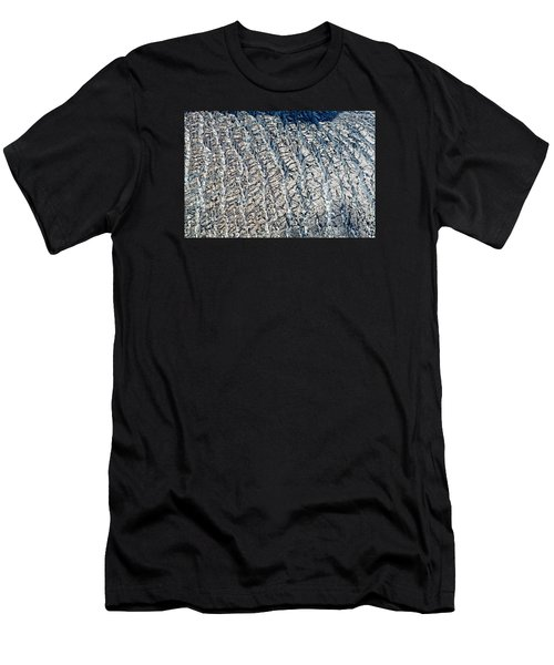 Upclose And Personal Of A Glacier Men's T-Shirt (Athletic Fit)