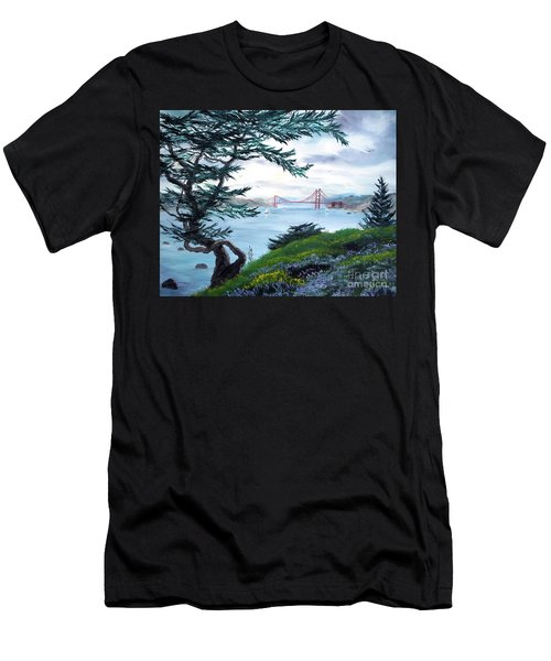 Upon Seeing The Golden Gate Men's T-Shirt (Slim Fit) by Laura Iverson