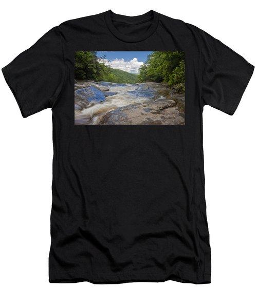 Upper Creek Waterfalls Men's T-Shirt (Athletic Fit)