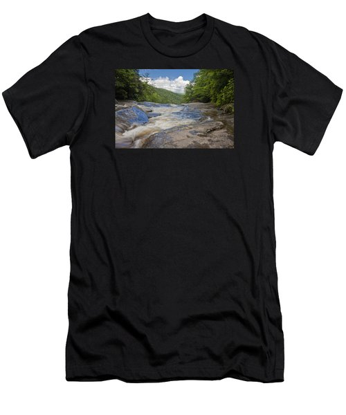 Men's T-Shirt (Athletic Fit) featuring the photograph Upper Creek Waterfalls by Ken Barrett