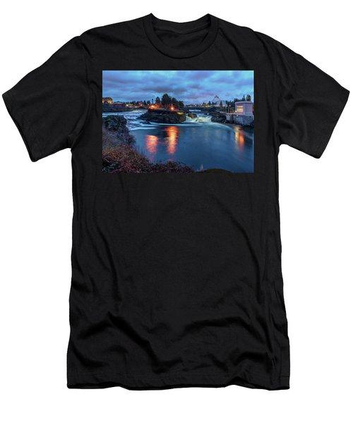 Upper Spokane Falls At Dusk Men's T-Shirt (Athletic Fit)