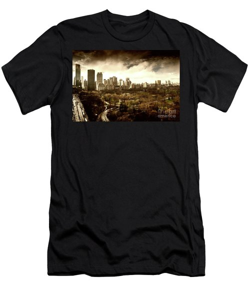 Upper West Side Of New York In Spring Men's T-Shirt (Athletic Fit)