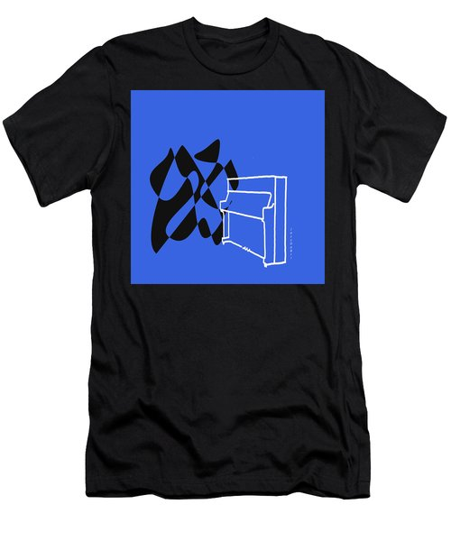 Upright Piano In Blue Men's T-Shirt (Athletic Fit)