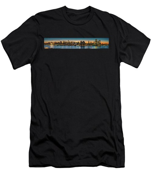 Men's T-Shirt (Athletic Fit) featuring the photograph Uptown And Midtown At Sunrise by Francisco Gomez