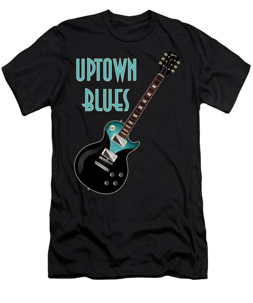 Uptown Blues T-shirt Men's T-Shirt (Slim Fit) by WB Johnston