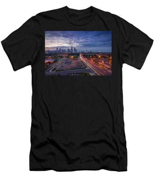 Uptown Charlotte Rush Hour Men's T-Shirt (Athletic Fit)