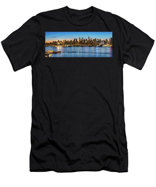 Men's T-Shirt (Athletic Fit) featuring the photograph Uptown Skyline At Sunrise by Francisco Gomez