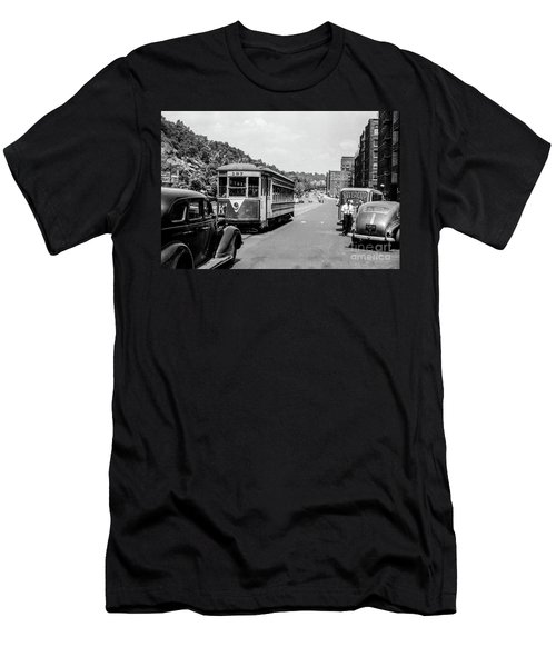 Uptown Trolley Near 193rd Street Men's T-Shirt (Athletic Fit)