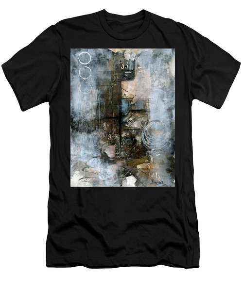 Urban Abstract Cool Tones Men's T-Shirt (Athletic Fit)