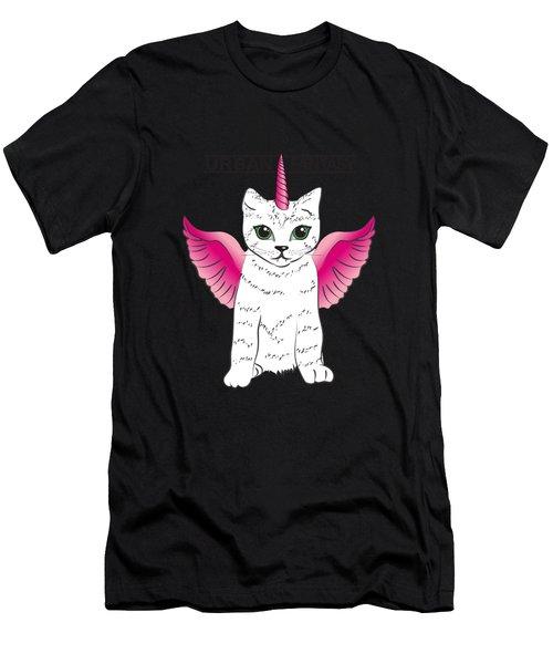 Urban Fantasy Cat Men's T-Shirt (Athletic Fit)