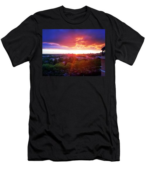 Urban Sunset Men's T-Shirt (Athletic Fit)