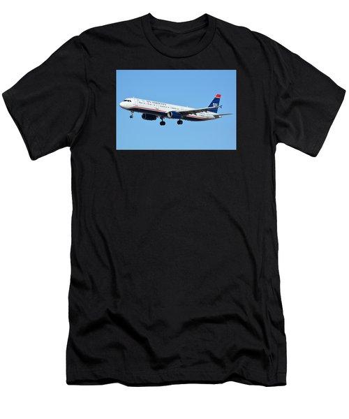 Us Airways Airbus A321-231 N567uw Men's T-Shirt (Athletic Fit)