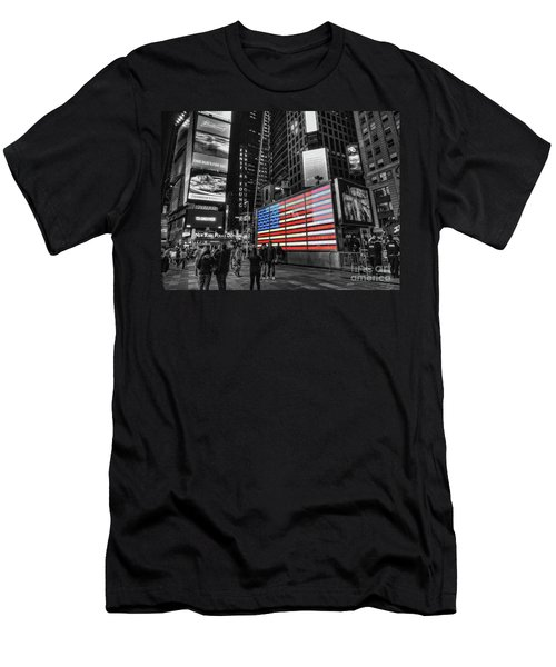 U.s. Armed Forces Times Square Recruiting Station Men's T-Shirt (Athletic Fit)