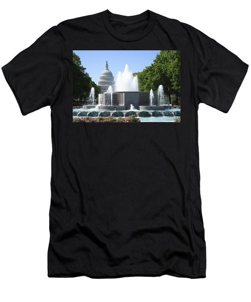 Us Capitol And Fountain In Washington Dc Men's T-Shirt (Athletic Fit)