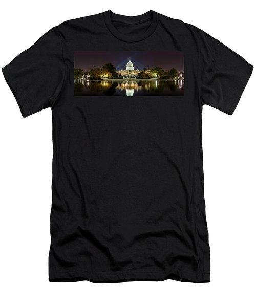 Us Capitol Night Panorama Men's T-Shirt (Athletic Fit)