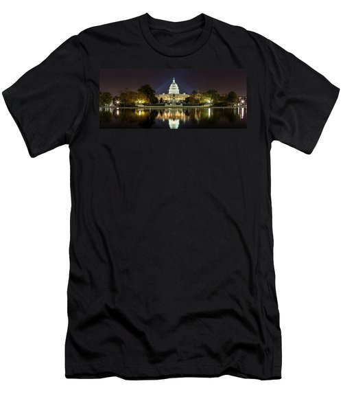 Us Capitol Night Panorama Men's T-Shirt (Athletic Fit)