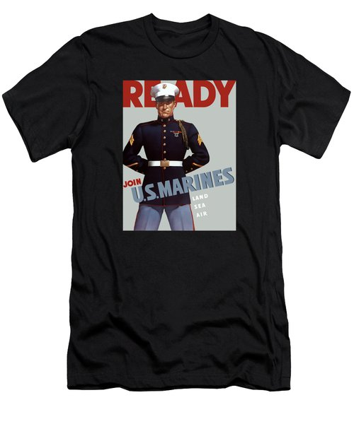 Us Marines - Ready Men's T-Shirt (Athletic Fit)