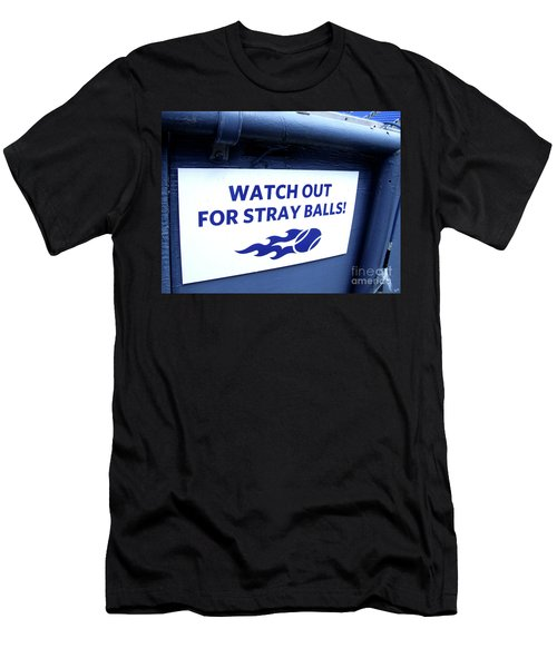 Us Open Tennis Watch Out For Stray Balls Sign Men's T-Shirt (Athletic Fit)