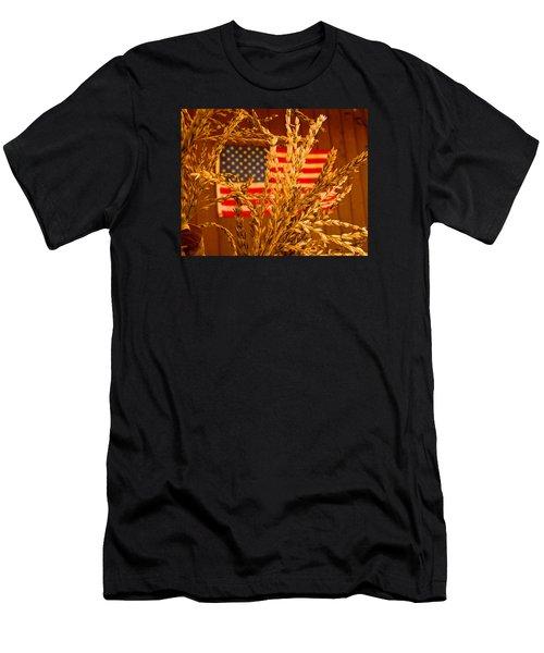 U.s. Wheat Men's T-Shirt (Athletic Fit)