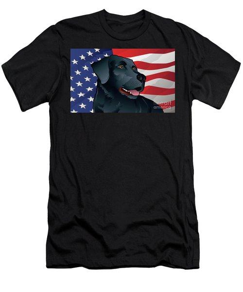 Usa Black Lab Men's T-Shirt (Athletic Fit)