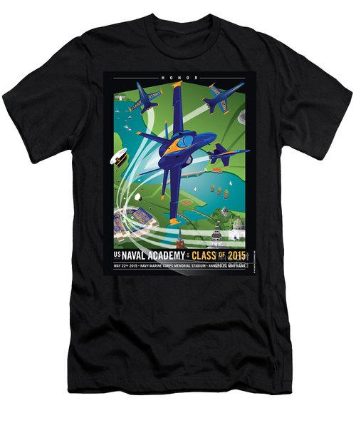 Usna Class Of 2015 12 X 16 Men's T-Shirt (Athletic Fit)