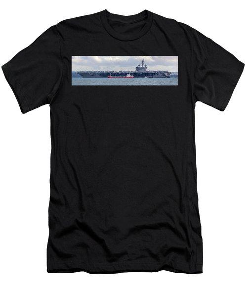 Uss George H.w Bush. Men's T-Shirt (Athletic Fit)